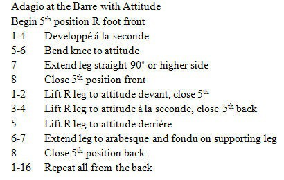 Adagio at the Barre with Attitude